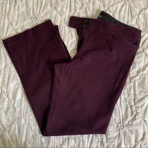 LOFT Julie Boot Cut Trouser, Purple, Size 12